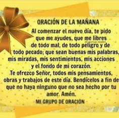 α JESUS NUESTRO SALVADOR Ω: ORACION DE LA MAÑANA, Al comenzar el nuevo día, te...