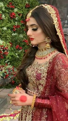 #Nilofark07 Pakistani Bridal Lehenga, Pakistani Bridal Makeup, Bridal Mehndi Dresses, Pakistani Wedding Outfits, Bridal Dress Design, Pakistani Wedding Dresses, Bridal Outfits, Indian Bridal, Bridal Makeover