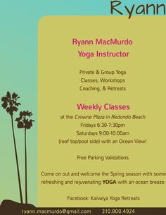 Rooftop Yoga @ Crowne Plaza Every Friday & Saturday  #SouthBay #Events #WhatsHappeninginTheSouthBay
