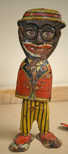 Vintage 1929 Marx Mammys Boy Tin Litho Wind Up Toy Black Americana