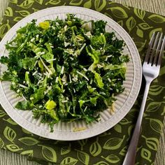 Kale and Romaine Caesar Salad  @ Kalyn's Kitchen