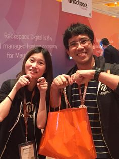 Our local organizers for Meet #Magento Japan Momoko & Hiro #mm15jp #meetmagento
