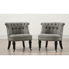 TOV Furniture Lily Grey Linen Chair TOV-A2G