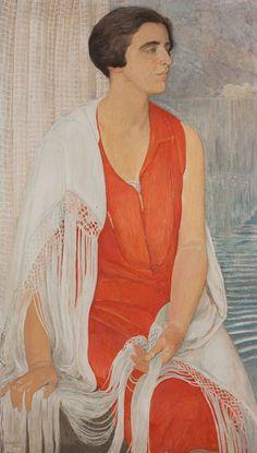 Ernest Bieler - Porträt von Renée Borel, 1929