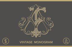 AF Monogram FA Monogram by Shuler Studio on @creativemarket