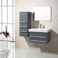 Virtu USA Antonio 28-inch Single Sink Bathroom Vanity Set