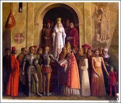 Coronation of the Catholic Queen Isabel. Alcázar de Segovia, Castilla y León (España - Spain).