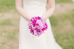 {Isabell & Ekkehard} Pink Orchid Bouquet Wedding Photos | by Kate Breuer