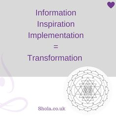 Energy 4 Life - not just Information - Transformation #becomeacoach