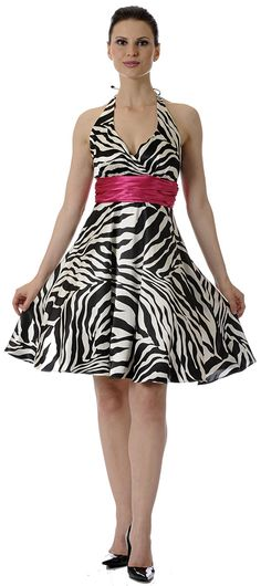 I want this dress!!! Short Zebra Print Party Dress at ...