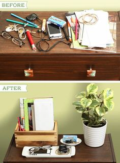 Identify your clutter traps. Then divide and conquer. | 34 Ingenious Ways To De-Clutter Your Entire Life