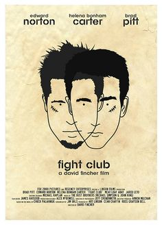 """Fight Club"" by Dan Sherratt.  http://minimalmovieposters.tumblr.com/tagged/fight-club"