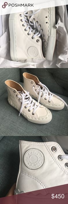 Chloe Kyle white sneakers size 5.5 Brand new in box from Barney's New York! Off white color. All leather. Size 5.5. I accept fair offers :) Chloe Shoes Sneakers