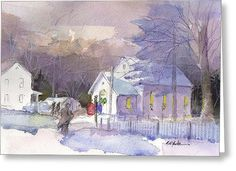 """""""Appalachian Christmas""""  Available in cards and prints on Fine Art America."""