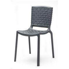 Pedrali Silla Tatami Diseño: Dondoli & Pocci. Silla de exteriorTatami Pedrali. Fabricada en policarbonato de varios colores con un atractivo asiento entrelazado.