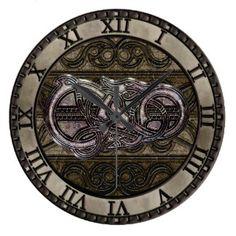 Tattoo Dragon Wall Clocks   Zazzle.com.au