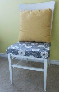 White and Grey Refurbished Chair | www.ofhousesandtrees.com