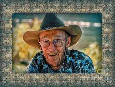 Dad In Cowboy Mood  -  Photo by Hanny Heim, Snowbird Photography #photography, #people #western #cowboy
