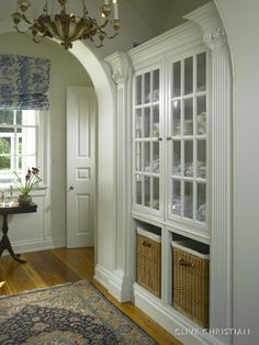 Organize It | Built Linen Cabinet and Hamper Storage | from French Country Home