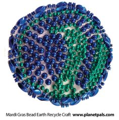 After #fattuesday Mardi Gras - Repurpose your mardi gras beads and make an Earth for #Earthday :) #beads #upcycle