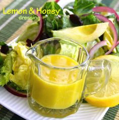 Honey and Lemon Dressing is one of the tastiest dressings I've made in quite a while with the perfect balance of sweet and tart.  #AllrecipesAllstars
