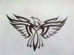 Tribal Eagle Tattoo...Cool! I went to summer camp and this is my society I cant wait to go back (p.s. eagles are the best society )