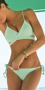 Cheap New Mint Green Bandage Push-up Bikini Set Padded Bra Triangle Swimsuit For Big Sale!New Mint Green Bandage Push-up Bikini Set Padded Bra Triangle Swimsuit Bikini Push Up, Sexy Bikini, Bikini Modells, Bikini Tops, Black Bikini, Bikini Beach, Strap Bikini, Bikini 2017, Bandeau Bikini
