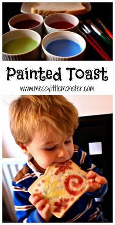 Use this simple edible paint recipe to paint on bread. Painted firework toast is a fun way for kids to celebrate new year or bonfire night. A fun painting technique for toddlers preschoolers eyfs Use this simple edible paint recipe to pa Bonfire Night Menu, Bonfire Night Activities, Bonfire Night Crafts, Diwali Activities, Eyfs Activities, Fun Activities For Kids, Fireworks Craft For Kids, Fireworks Art, Toddler Preschool