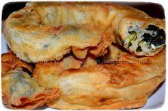 Σπανακοτυρόπιτα τηγανητή Burritos, Bagel, Recipies, Appetizers, Bread, Food, Breakfast Burritos, Recipes, Appetizer