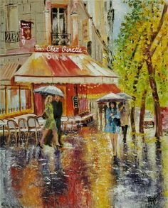 PRAGUE CHARLES BRIDGE Rain Umbrellas Limited Edition ACEO Print Art Yary Dluhos