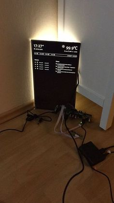 Smart mirror with ikea frame
