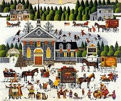 """Churchyard Christmas"" by Charles Wysocki"