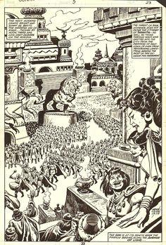 JOHN BUSCEMA CONAN ANNUAL 1979 WEDDING SPLASH Comic Art