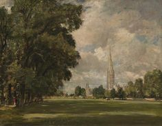 Salisbury Cathedral from Lower Marsh Close, 1820, by John Constable Light/shadow play, something impressionism-ish about this painting. Certainly I adore it.