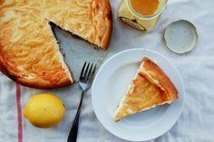 Marble Swirled Lemon Curd Cheesecake
