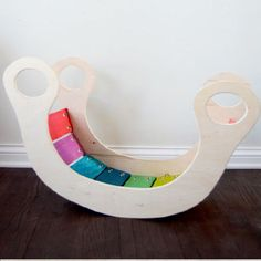 Create a rainbow rocker for the kiddos with this tutorial and downloadable template.