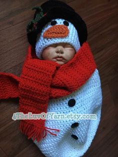 A personal favorite from my Etsy shop https://www.etsy.com/listing/478190640/winter-snowman-baby-photography-prop