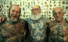 williamegilbert-:  'What  are you going to do about your tattoos when you're older?!'  …dunno  mate, probably grow an epic beard and hangout with other badass tattooed  dudes and generally look awesome. What are you going to do when you  just look like every other old bastard?     This^