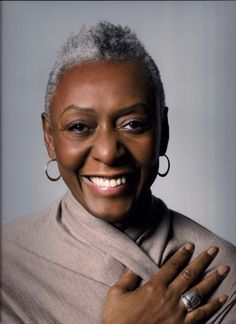 one of the fashion industry's first Black supermodels, Bethann Hardison is an icon!  Her silver twa is stunning!
