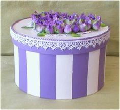 Use a hat box for the cards received at the Wedding.