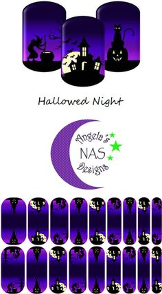 You   saved to   Angela's NAS Designs    Halloween Nail Wraps. Hallowed Night. Jamberry Nail Art Studio. Angela's NAS Designs.