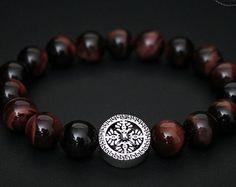 Mens Bracelet, Jewelry, 10mm Tigers Eye Beaded Bracelet, Gift Bracelet, Wholesale Available, Braccialetto Pulsera Armband Rannekoru Karkötő
