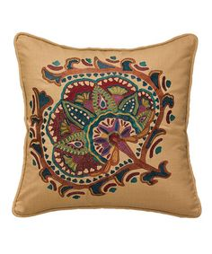 Loving this Jewels Embroidered Square Throw Pillow on #zulily! #zulilyfinds