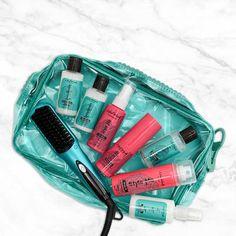 The Travelista Travel Kit - Head Kandy One Upper, Detangling Brush, Tight Curls, Mini One, Purple Teal, Travel Set, Dry Shampoo, Latest Hairstyles, Zipper Bags
