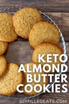 Keto Almond Butter Cookies are so easy to make and will satisfy your sweet tooth. The combination of ingredients for these cookies results in crispy, but satisfyingly chewy keto cookie that you can't resist. The best part is that these almond butter cookies are low carb, gluten-free, and grain-free.