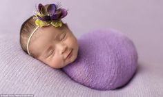 Sessions photographing the newborns can take up to four hours as the photographer has to a...