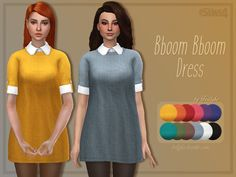 A comfy and loose dress with a white undershirt. Found in TSR Category 'Sims 4 Female Everyday'