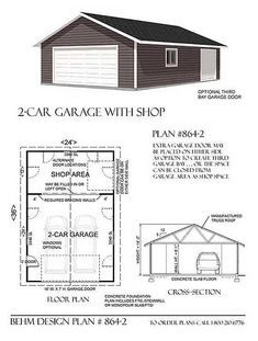 Two car garage with rear bay shop plan 2 x by design plans workshop floor . garage shop plans with loft . Workshop Layout, Workshop Plans, Garage Workshop, Workshop Ideas, Architectural Styles, Garage Halloween, The Plan, How To Plan, 2 Car Garage Plans