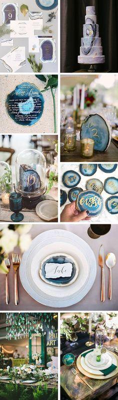 Geode Wedding Ideas / http://www.himisspuff.com/geode-wedding-ideas/