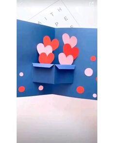 #manualidad para regalar a cualquier ser querido. #diy #diyideas #love Detalles románticos. Tarjetas Diy Crafts Hacks, Diy Crafts For Gifts, Fun Crafts, Crafts For Kids, Creative Crafts, Diy Crafts How To Make, Paper Crafts Origami, Diy Paper, Paper Art